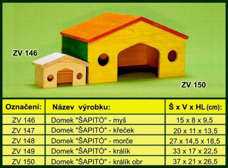 Domek pro morče, šapito drevo-vyrobky.cz