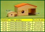 Domek pro hlodavce, sedlová střecha