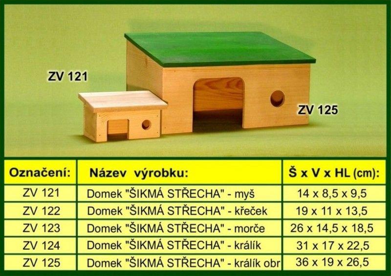 domek pro morče, šikmý drevo-vyrobky.cz