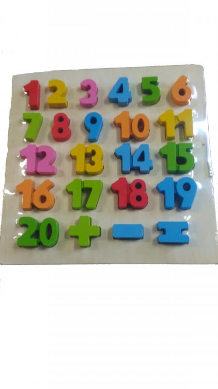 skládačka pro děti číslice