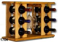 Stojan na víno a sklenice, vinotéka- kombi