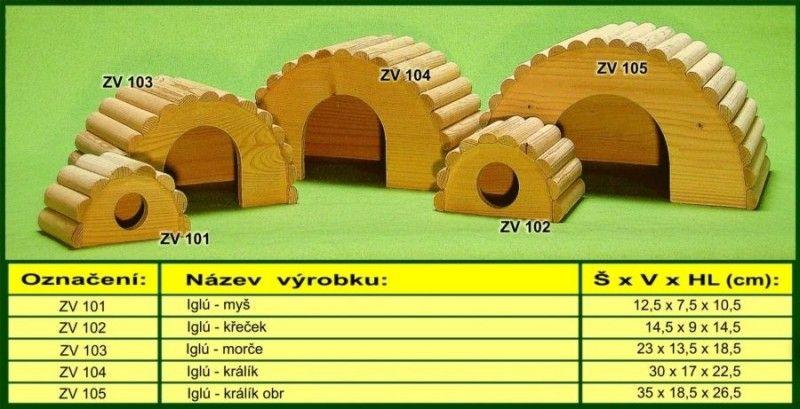 domek pro morče, iglů drevo-vyrobky.cz