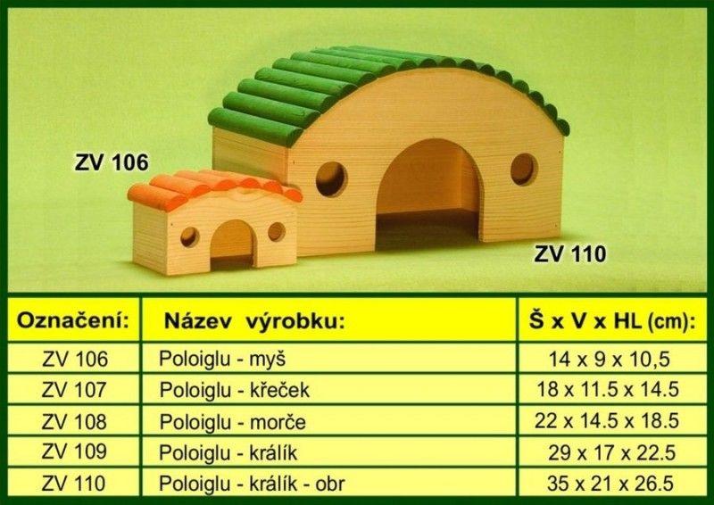 domek pro morče, poloiglů drevo-vyrobky.cz