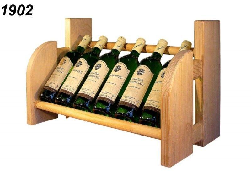 Stojan na víno, 1x6 lahví vína, police drevo-vyrobky.cz