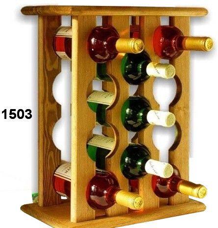 stojan na víno 11ks skříň