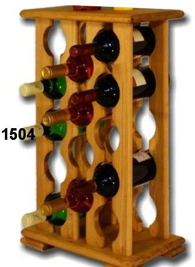 stojan na víno, 15ks, skříň