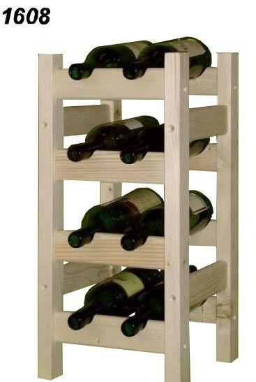 stojan na víno 4x2 regál