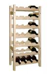 Dřevěný stojan na víno 7x4, regál
