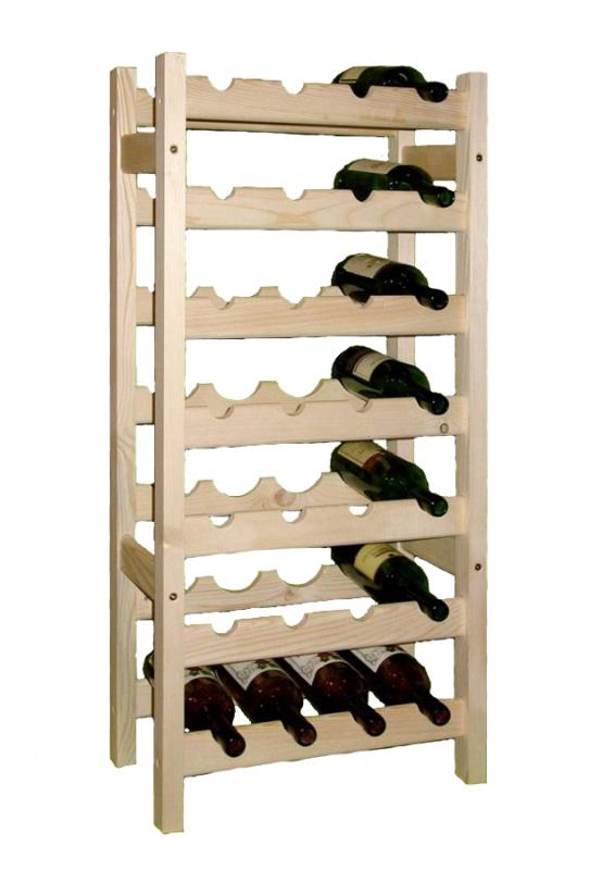 stojan na víno 7x4 regál